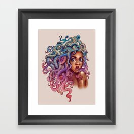 Sea Foam Freckles Framed Art Print