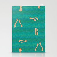 swimming Stationery Cards featuring Swimming by Mimi