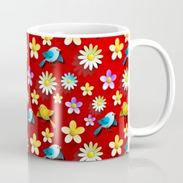Bird and Flower Coffee Mug