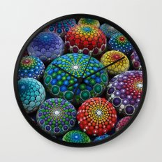 Jewel Drop Mandala Stone Collection #1 Wall Clock
