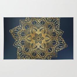 Golden Mandala Art Rug