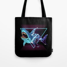 Shark 80s Tote Bag