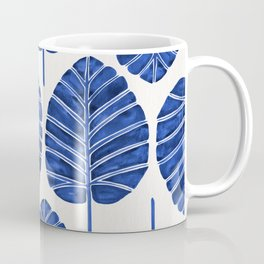 Elephant Ear Alocasia – Navy Palette Coffee Mug