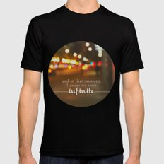 perks of being a wallflower - we were infinite Black MEDIUM Mens Fitted Tee