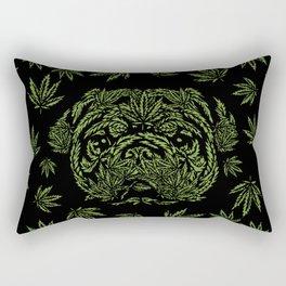 Marijuana of Pug Rectangular Pillow