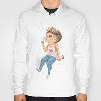 niall Hoodies featuring Bubble Niall by RockitRocket