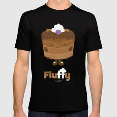 Fluffy Chocolate Mousse Cake SMALL Mens Fitted Tee Black
