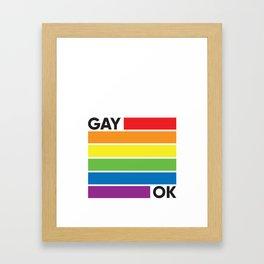 GAY OK Framed Art Print