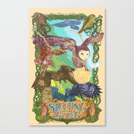 Sleepin is Giving in Canvas Print