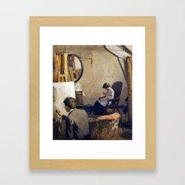 Arthur Clifton Goodwin Louis Kronberg in His Studio in Copley Hall Framed Art Print