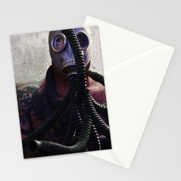 Gas Mask Medusa Stationery Cards