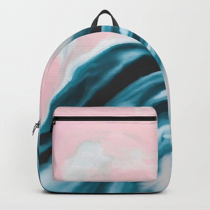 Pink and blue tide Backpack
