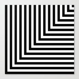 Black and White L Stripes // www.pencilmeinstationery.com Canvas Print
