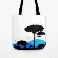 safari Tote Bags featuring Safari by yakitoko