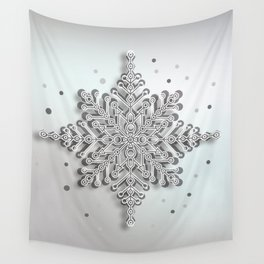 snow crystal Papercut Wall Tapestry