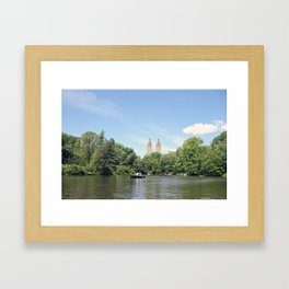 Central Park Lake Framed Art Print