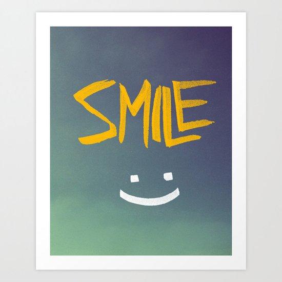 Smile (: Art Print