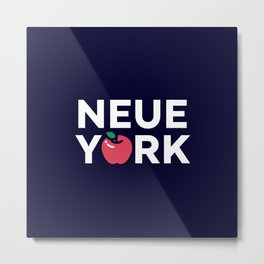 The Big Apple - New York Poster Metal Print