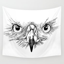 Eagle Eyes Wall Tapestry