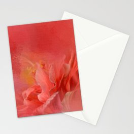 Salmon Hibiscus 3 - Floral Stationery Cards