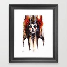 calavera de azúcar - sugarskull Framed Art Print