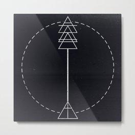 Arrow Glyph Metal Print