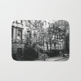 New York City - West Village Street and Bicycles Bath Mat