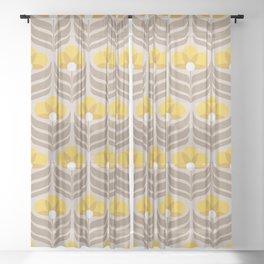 Sunny retro pattern no6 Sheer Curtain