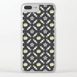 Hanami Nummies | Black Matcha Clear iPhone Case