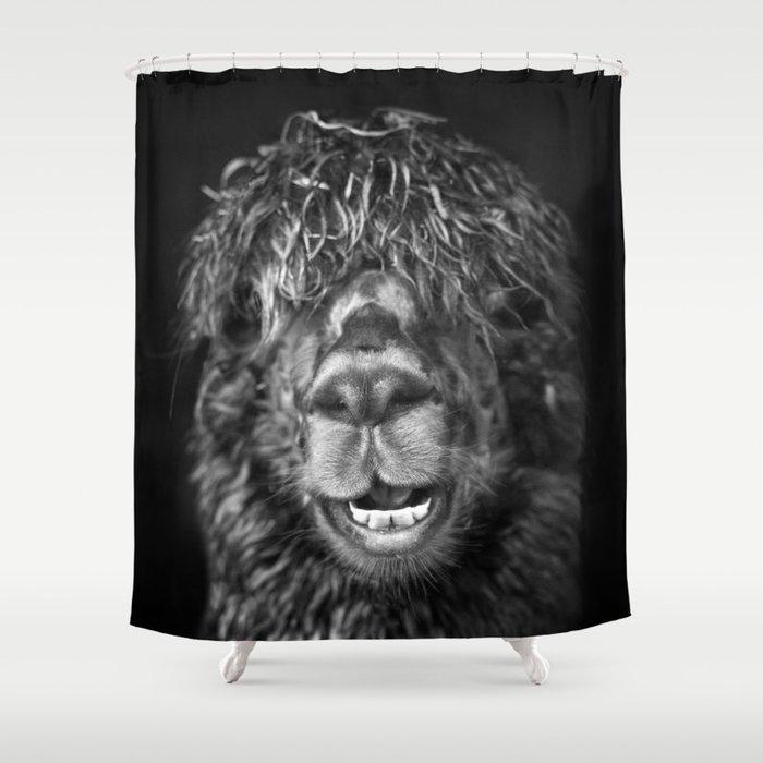 Alpaca. Happy Dayz Shower Curtain
