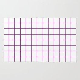 Grid (Purple/White) Rug