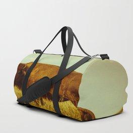 Vintage Bison - Buffalo on the Oklahoma Prairie Duffle Bag