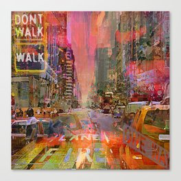 traffic jam pink Canvas Print