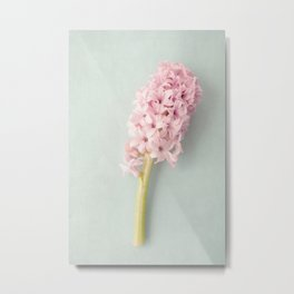Textured Hyacinth Metal Print
