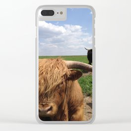 Scottish Highlands - Sylvester and Fia Clear iPhone Case