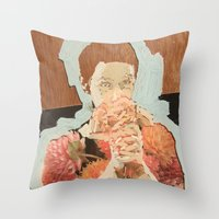 study Throw Pillows featuring Study by Suzanna Schlemm