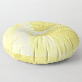 Yellow green abstract Floor Pillow