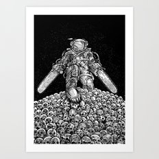 Texas Chainsaw Astronaut: New Moon Art Print