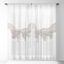 Pinky Shades Sheer Curtain