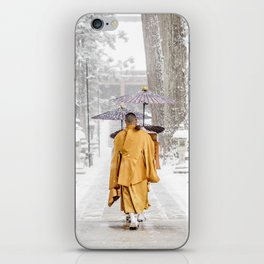 Japanese Buddhist Monks in Winter iPhone Skin