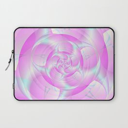 Spiral Pincers in Pink and Blue Laptop Sleeve