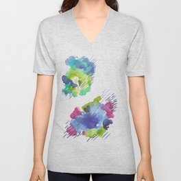 180802 Beautiful Rejection 14| Colorful Abstract Unisex V-Neck