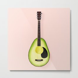 AVOCADO GUITAR Metal Print