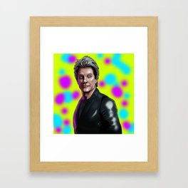 Bon Jovi color me in Framed Art Print