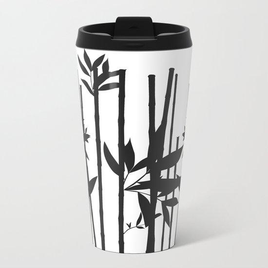 Black Bamboo Metal Travel Mug