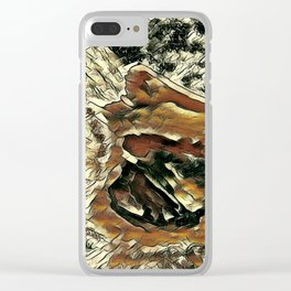 Abstract Pelican Art Clear iPhone Case