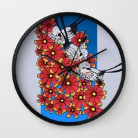 oklahoma Wall Clocks featuring OKLAHOMA by Erin L Turberville