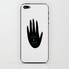 mystical black hand iPhone Skin