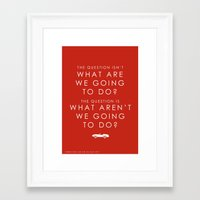 ferris bueller Framed Art Prints featuring Ferris Bueller quotation by plastic