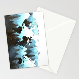world map forest Stationery Cards